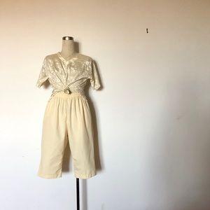 Bon Worth - Vintage Soft Yellow Cotton Capris